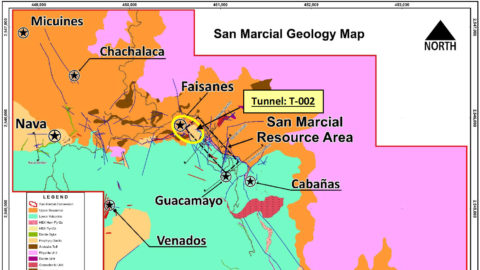 San Marcial Project – Location of T-002 Tunnel at Faisanes Target