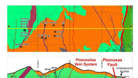 Plomosas Mine Area Cross Section N