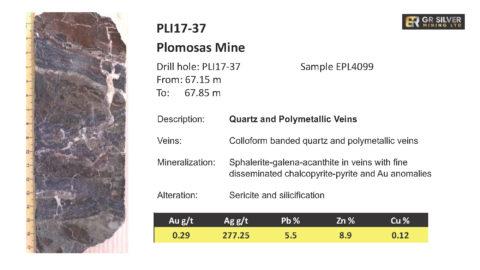 PLI17-37 - Quartz and Polymetallic Veins