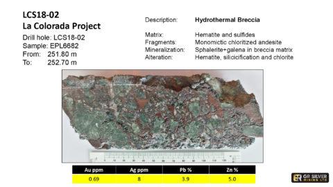 LCS18-02 – Hydrothermal Breccia