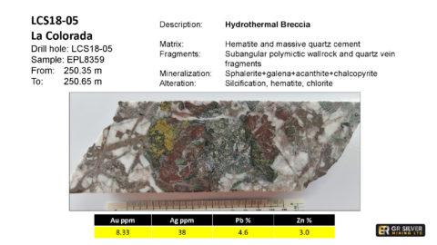 LCS18-05 – Hydrothermal Breccia