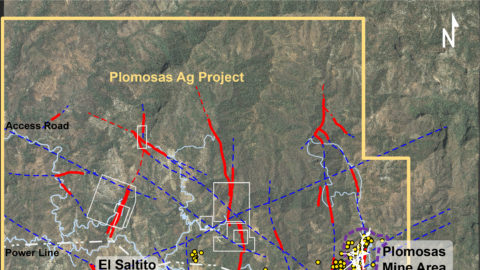 Location of Drilling Areas at the Plomosas and San Marcial Projects