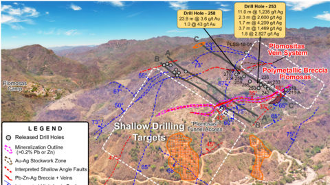 Plomosas Mine Area – Proposed Step Out Drilling Areas (looking to the NW)—As of July 15, 2020