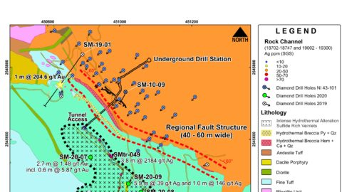 San Marcial – Gold and Silver Exploration Results in Lower Acid Volcanic Zone