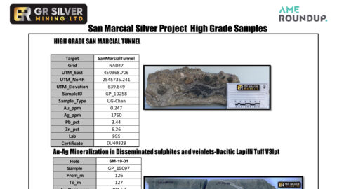 San Marcial Silver Project High Grade Samples
