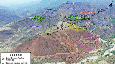 Plomosas Mine Area – Large Epithermal System with New Discoveries – June 7 - 2021