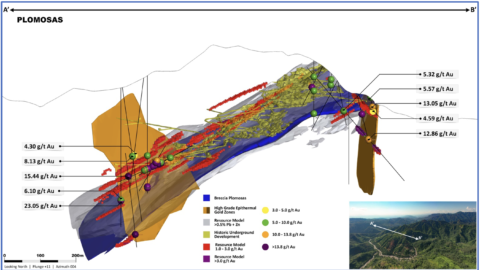 3D Representation of the Plomosas Mine Area
